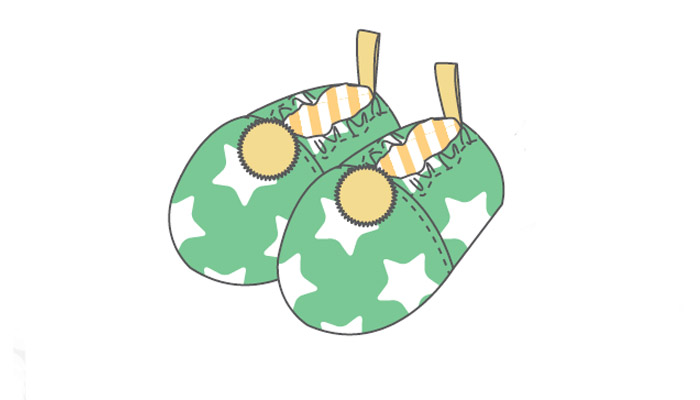 Embroidery runner design with teapots, cookies and muffins