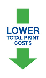lower total print costs