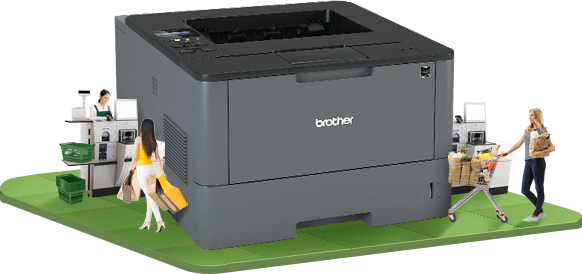 Brother cashier printer for invoice and receipts